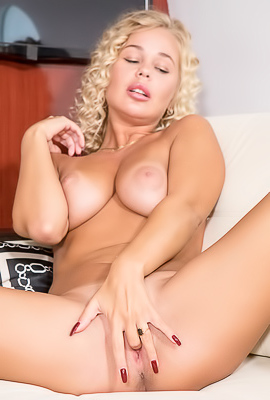 Voluptuous Blonde Sarika