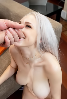 Big Tits Blonde Skylar Vox Getting Big Facial